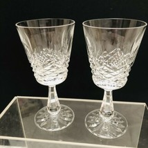 Waterford Crystal Lismore Claret Wine Stems 6in Tall - Made In Ireland - $79.15