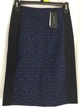 New Roland Mourey Banana Republic Blue Animal Print Pencil Skirt 0p 0 Pe... - $24.18