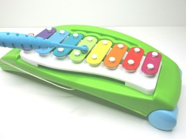Vintage Little Tikes Musical Xylophone Pull Toy Play Sounds Tunes Green ... - $18.78