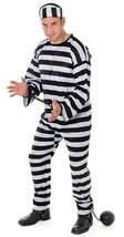 CONVICT COSTUME, JAIL BIRD/PRISONER FANCY DRESS COSTUME #US - $26.95