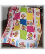 Strawberry Shortcake Octagon Fabric Patchwork Toddler/Teen Quilt  - $65.99