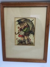 Vintage Hummel Print Framed Matted 8x11 ( Print 5x3) Old Wall Art - $13.83