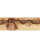 Burgundy Rosehip Garland Wallpaper Border Chesapeake Wallcovering FFR65211B - $20.99
