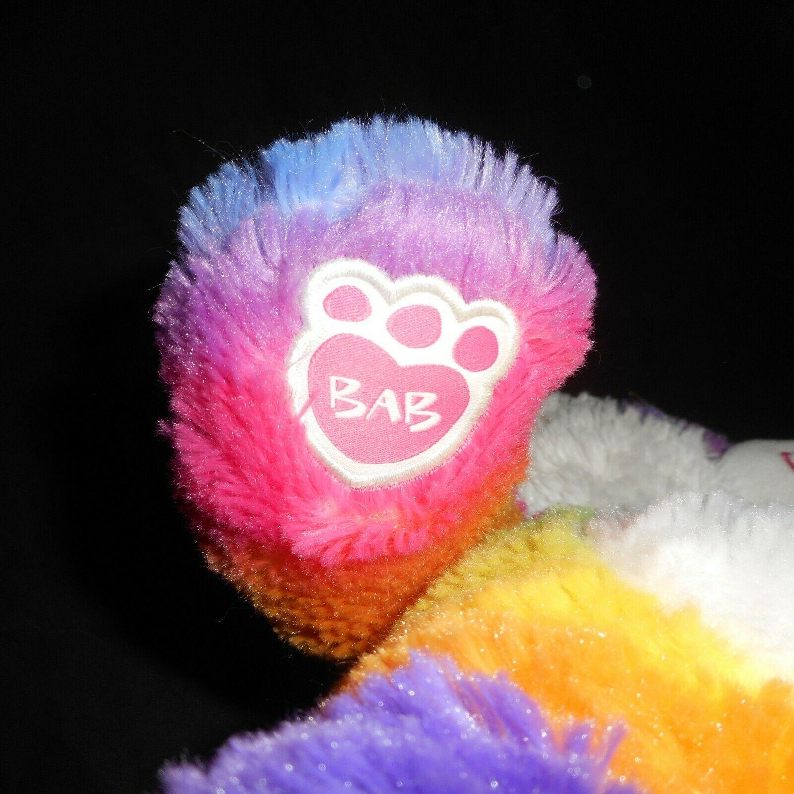 "18"" Build a Bear Pop Of Color Rosa Arcoiris Panda Osito Peluche Plush Toy image 4"