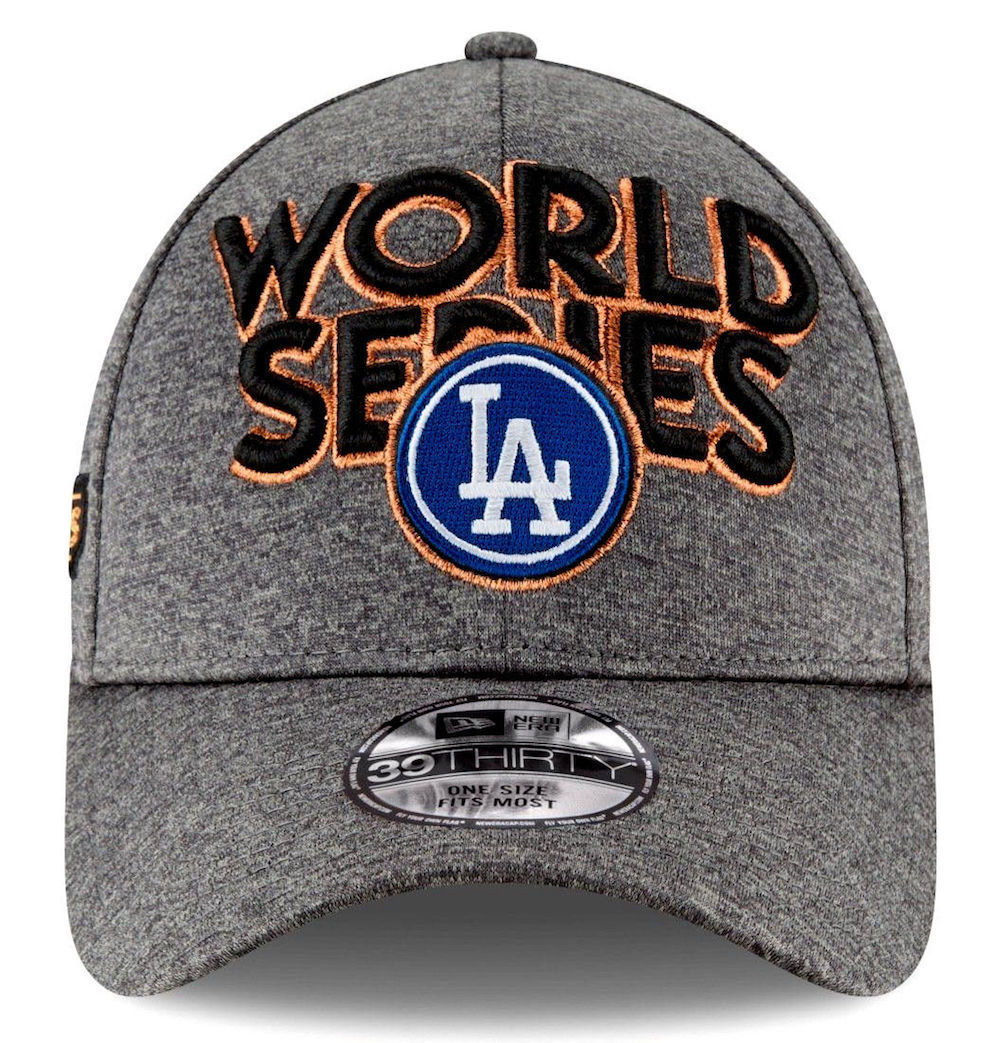 690328b4607d5 NEW ERA Los Angeles Dodgers World Series Flex Fit Cap One Size Gray Stretch  MLB