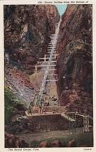Incline Royal Gorge Colorado CO 1953 Estes Park Postcard B02 - $2.99