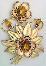 Vintage Barclay Vermil Brooch Bracelet Earring Set - $75.00