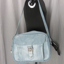 Vintage Classic American Tourister Baby Blue Flight Bag Messenger Luggage - $37.04