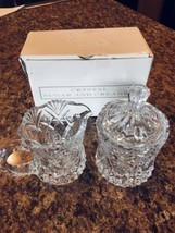 VINCENNES Crystal Cut Creamer And Sugar Made In France Set #8 - $18.22
