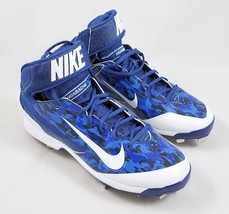 Nike Air Huarache Metal Baseball Cleats Mens Size 10.5 Blue Camouflage C... - $54.33