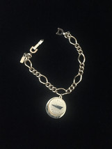 Vintage 70s Monet Gold Link Bracelet with Puerto Rico Charm image 1