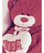 """Giant 33"""" Hugfun red Valentine's Day Bear w/ white heart pillow that say... - $21.46"""