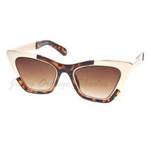 Retro Designer Sunglasses Trapezoid Cateye Runway Fashion Shades image 2
