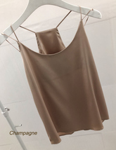 Summer Sleeveless Silky Tanks Top Dusty Pink Party Tanks Wedding Bridesmaid Tops image 5