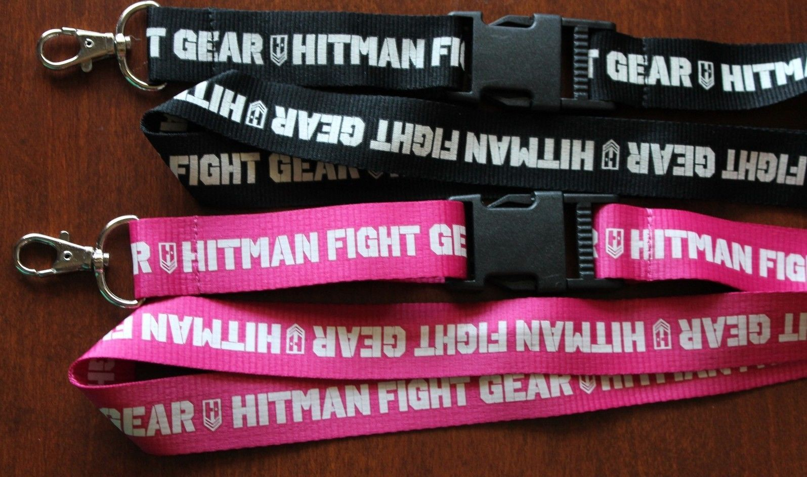 Primary image for New HITMAN FIGHT GEAR Lanyard / Keychain / ID Holder Black or Pink UNIQUE!!