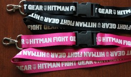 New HITMAN FIGHT GEAR Lanyard / Keychain / ID Holder Black or Pink UNIQUE!! - $4.99