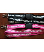 New HITMAN FIGHT GEAR Lanyard / Keychain / ID Holder Black or Pink UNIQUE!! - $9.99