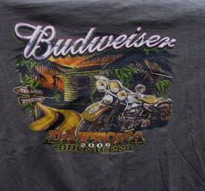 T-Shirt Daytona Bike Week 2006 Budweiser Daytona Beach Florida downtown - $19.78