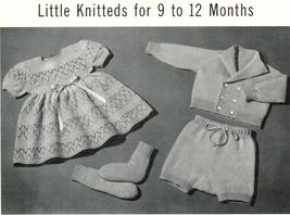 Vintage Baby Knit Crochet Wardrobe Carriage Set Shower Gifts Pattern 3-1... - $12.99