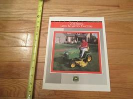 John Deere 200 Series Lawn & Garden Tractor Vintage Dealer sales brochure - $14.99