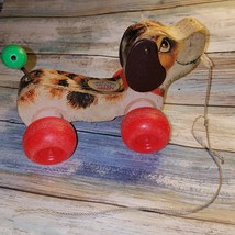 "Vintage 1968 Fisher Price ""Little Snoopy""  Wooden Puppy Dog Pull Toy - $18.53"