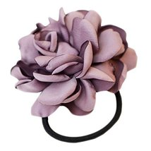 Elegant Flowers Ponytail Holders Hair Rope Hair Accessories(Purple)