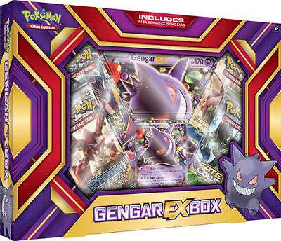 POKEMON TCG (2) Collection Boxes: Gengar EX Box + Mega Gyarados Gift Box Sealed