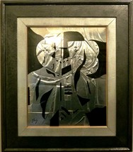 "Neal Doty (1941-2016)-""Cyberman""-Original Mixed Media Painting/Hand Sign... - $689.00"