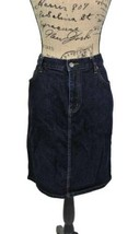 RALPH LAUREN Dark Indigo Blue Jean Denim Skirt Size 12 - $40.00