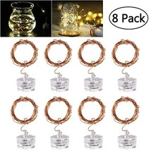 YUNLIGHTS LED Starry String Lights, 8PCS 6.5foot Warm White Copper Fairy... - $15.24
