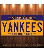 New York Yankees MLB Baseball Team Aluminum Vanity License Plate - $12.82