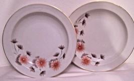 "Lot of 2 Bowls Salad Soup Dinnerware China White Floral Design Dine 8"" dia - $9.89"