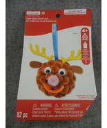 Holiday Pompoms Reindeer head Ornament Craft Kit Creatology  Unopened   - $8.00