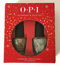 OPI Nail Lacquer - Glamour & Glitter - Glitzerland, Count to Tinsel C-Y - $13.00