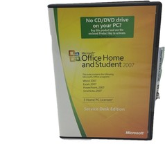 Microsoft Office Home and Student 2007- Service Desk Edition w/ Key  - $18.80