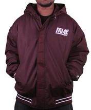 Hall of Fame 2ND Second Sucks Sideline Burgundy Hooded Parka Jacket NWT image 2