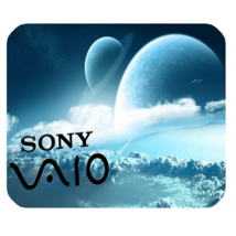 Mouse Pad Sony Vaio Logo Beautiful Earth Moon Music Editions For Game Anime - $9.00