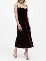 Banana Republic Velvet Midi Slip Skirt, Burgundy Red, size XL, NWT - $65.00