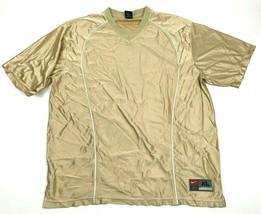 NEW VINTAGE Nike Soccer Jersey Mens Size Extra Large Gold Shirt Short Sl... - $27.33