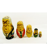 VTG Past Russian Soviet Political Leaders Nesting Doll Matryoshka 5 pc s... - $27.72