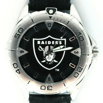 Raiders Dial, NFL Fossil Men's New Unworn Vintage 1998 Watch, Leather Band! $79 - $78.06