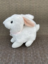 Easter Bunny Rabbit White Plush Animal Toy By Best Made Toys International - $14.75