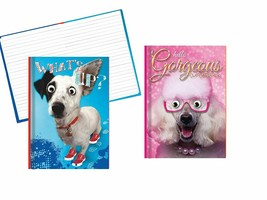 Hardback Notebook Set, Covers Feature a Funny Dog with Googly Eyes - 8.2... - $11.73
