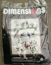 The Birdbath Dimensions Crewel Embroidery Kit 1241 Vintage 1982 Started - $21.00