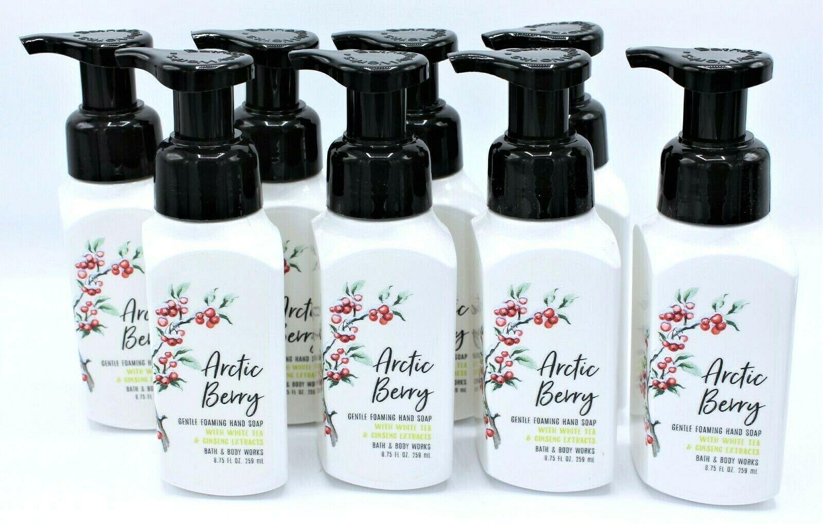 Bath & Body Works Arctic Berry Gentle Foaming Foam Hand Soap, New, (Set of 8)