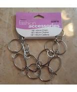 """Fashion Accessories - Silver Tone 18"""" Chain - NEW - $4.99"""
