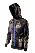 Avengers Endgame Logo Costume Black Hoodie Bomber Satin Jacket For Men image 2