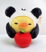 "Kiiroitori Panda Chick With Apple Plush Stuffed Animal Rilakkuma NWT 11"" - $34.64"