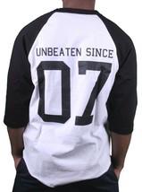 Motivation Ann Arbor Mens Black White Rose Unbeaten 3/4 Sleeve Raglan T-Shirt image 2