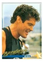 David Hasselhoff trading card Baywatch 1995 #3 Mitch Buchannon - $4.00